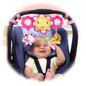Bright Starts Pretty In Pink Carrier Toy Bar Review With Me Mama