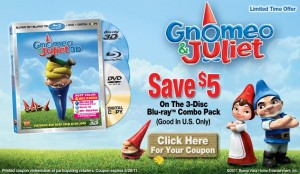 Gnomeo and Juliet $5 off coupon