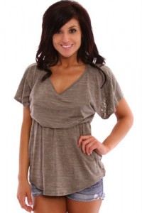 Cute Cheap Clothes For Juniors Mocha Tunic Top x jpg