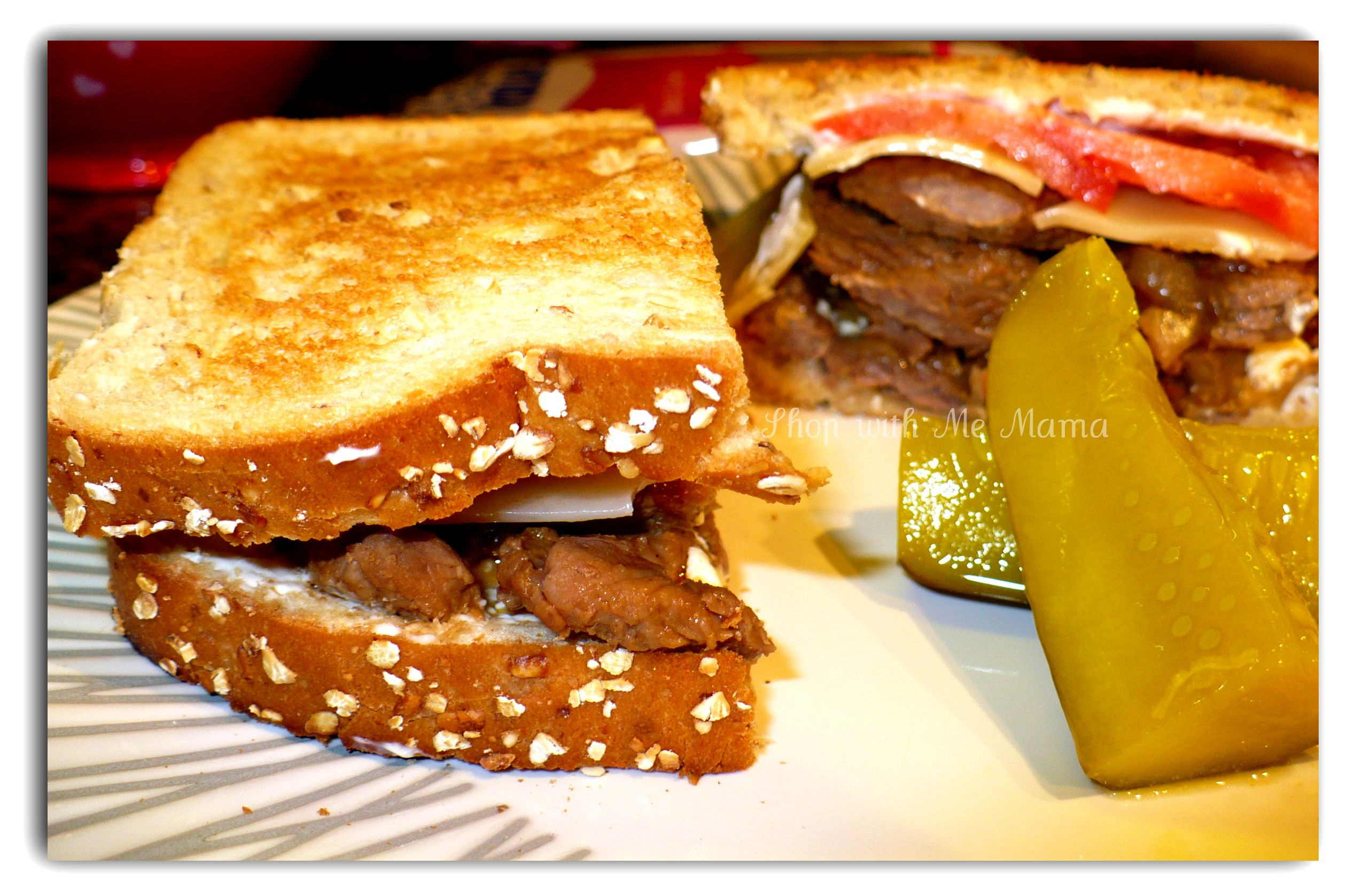 Sweet & Spicy Steak with Onion, Mushrooms & Swiss Cheese