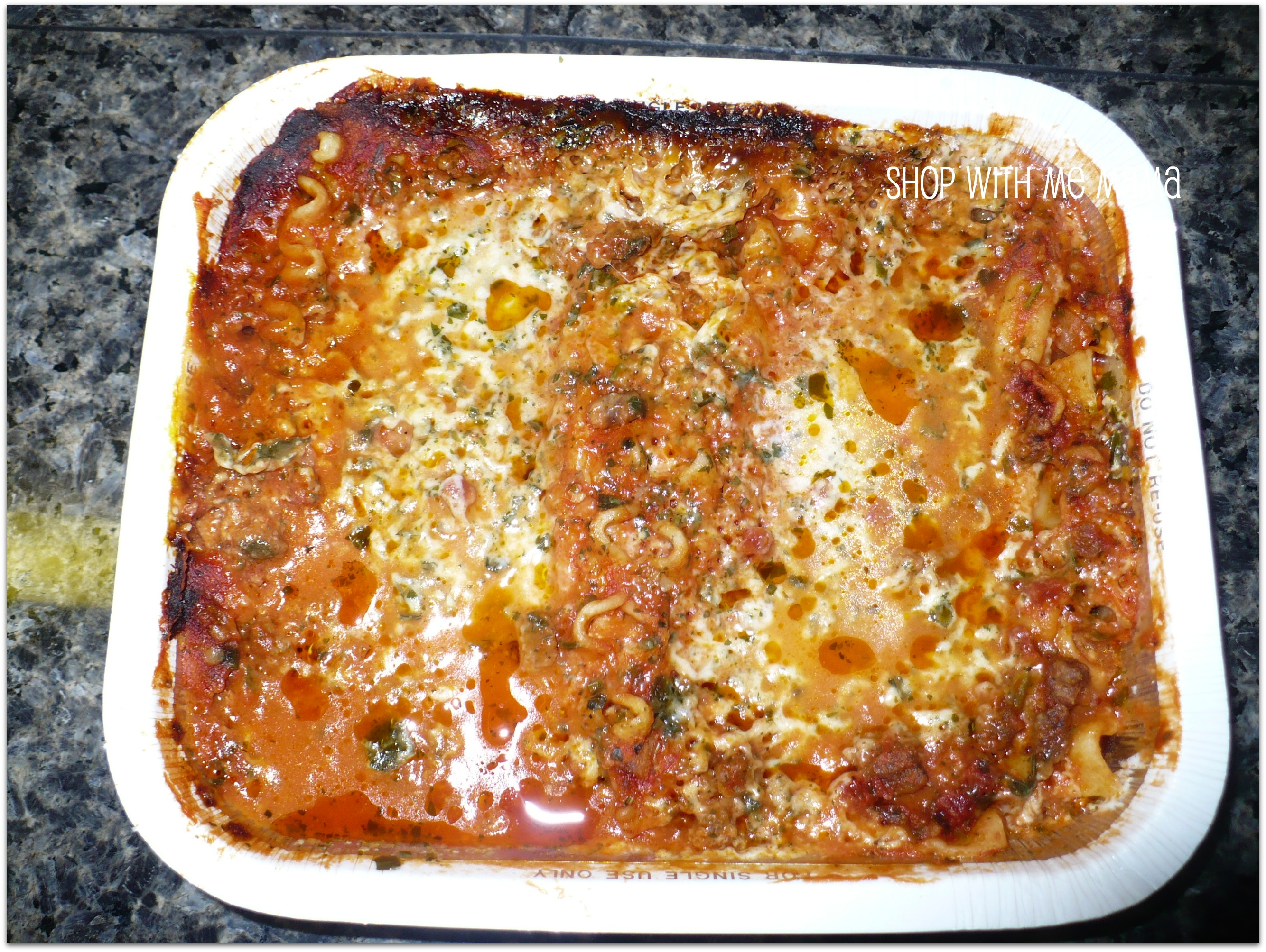 Three Meat and Four Cheese Lasagna