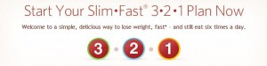 slim fast 321 meal plan