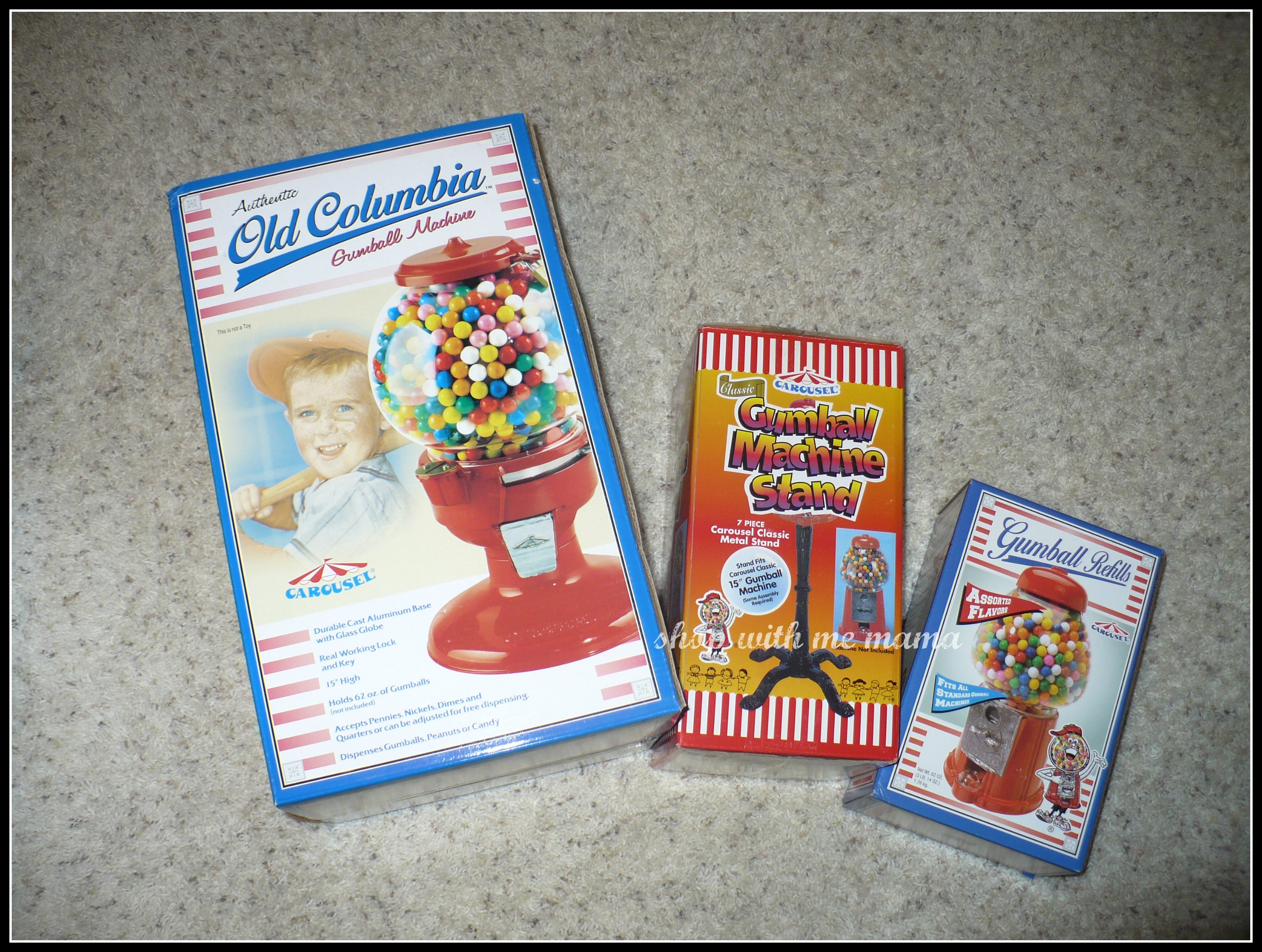 Carousel Old Columbia Gumball Machine