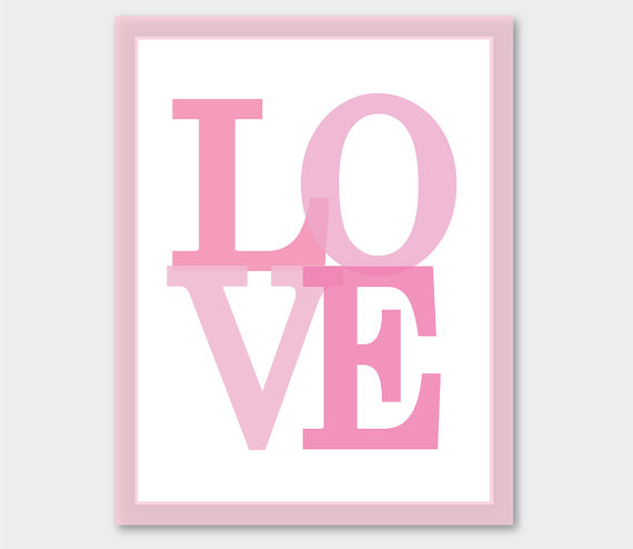 handmade love sign for valentines day from etsy