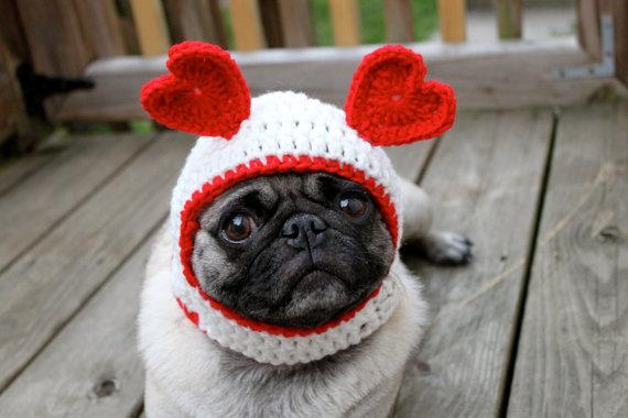 Valentines Day Dog Hat on Etsy