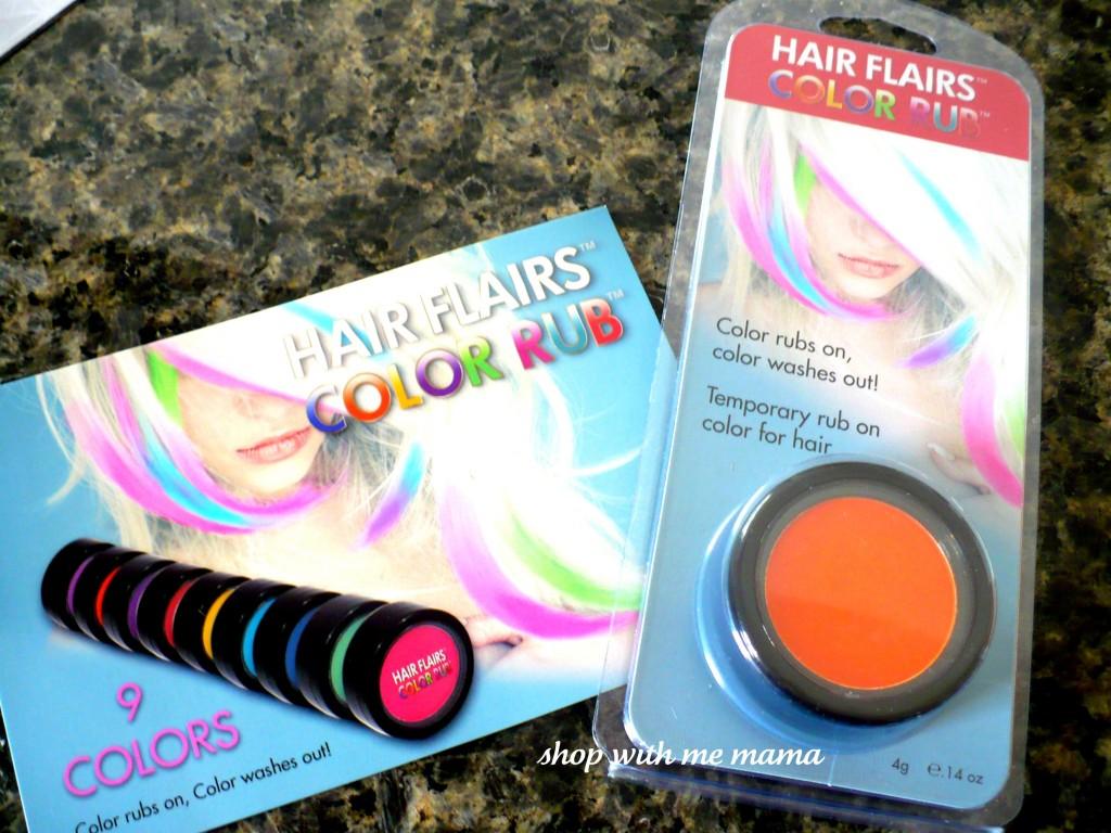 Hair Flairs Color Rub On Dark Hair