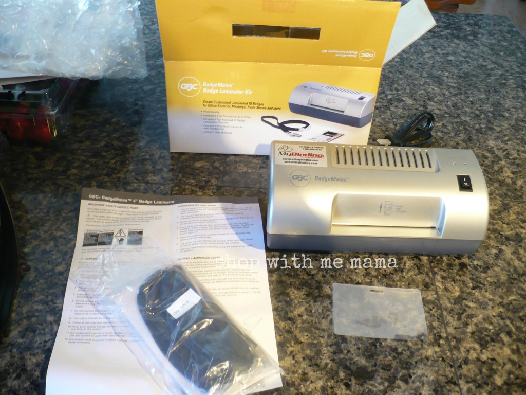 Gbc Id Badge Laminator Kit Review And Giveaway Shop With