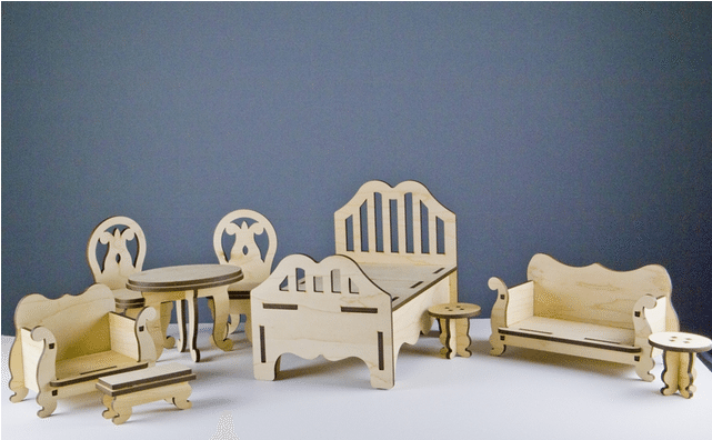 Unfinished doll furniture for 18 inch dolls wooden model for Furniture you put together