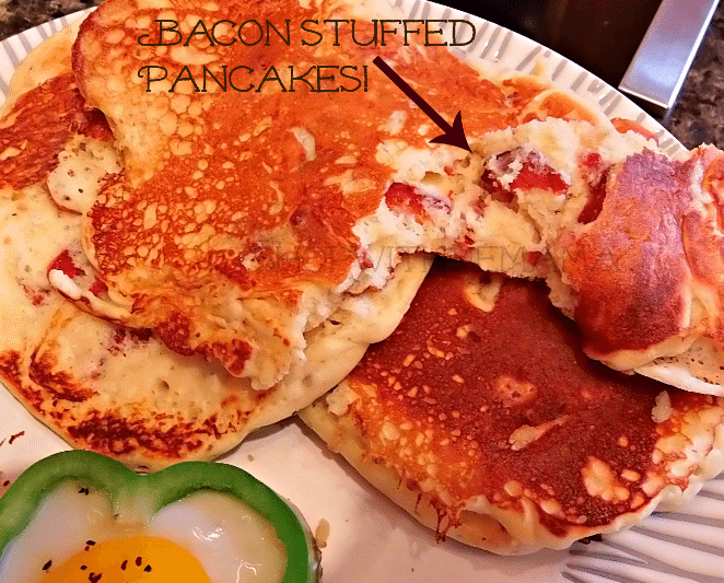 bacon stuffed pancakes