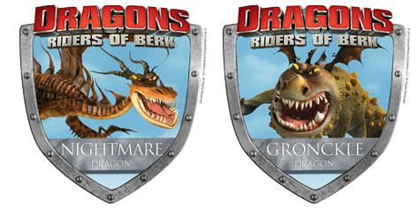 dragons riders of berk badges