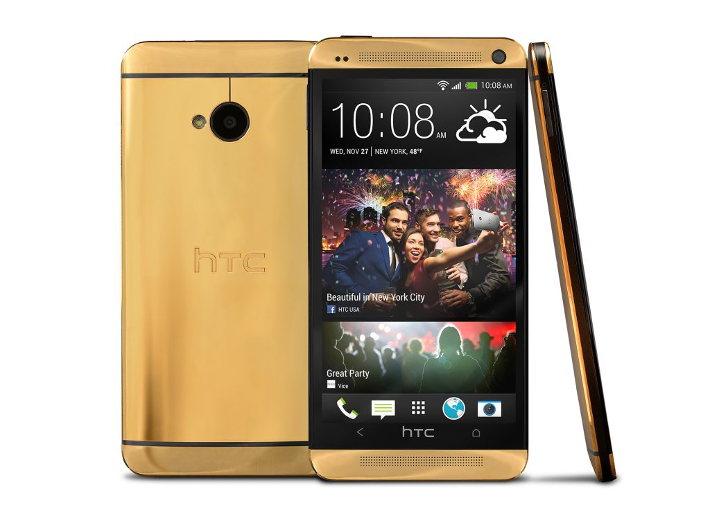 Gold HTC One - 3 Angles