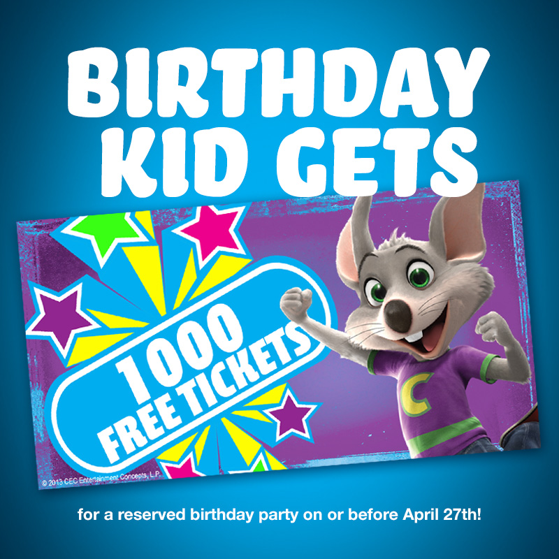 When you have a birthday party at Chuck E. Cheese's, you always party like a Superhero or Princess. Celebrate with a special birthday show with Chuck E. himself.