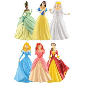 disney princess figurines at the dollar store