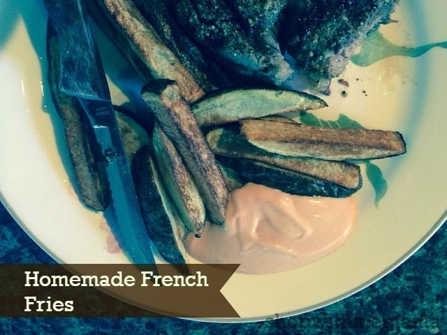 homemade french fries in philips airfryer
