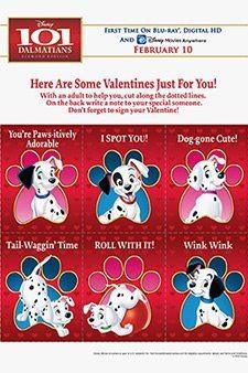 101 Dalmatians Valentine's Day Printables