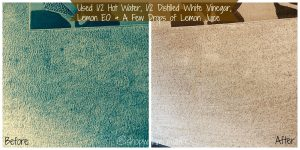 before and after carpets