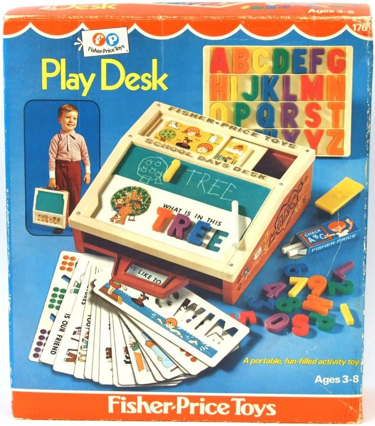 fisher price vintage portable play desk