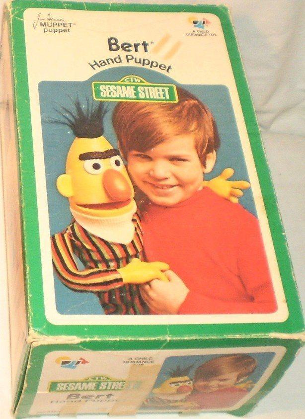 sesame street bert hand puppet vintage