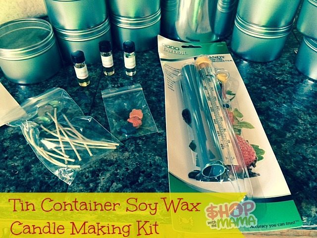 Tin Container Soy Wax Candle Making Kit