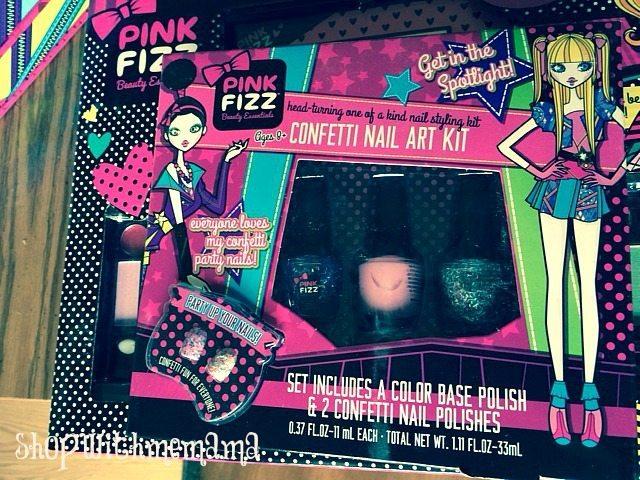 pink fizz confetti nail art kit