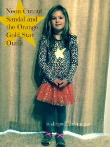 Neon Cutout Sandal and the Orange Gold Star Outfit