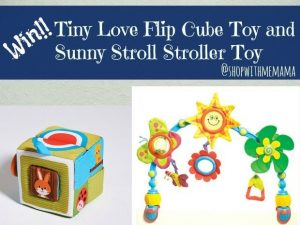 Tiny Love Flip Cube Toy and Sunny Stroll Stroller Toy Giveaway