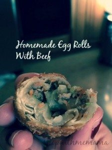 Homemade Egg Rolls with Beef