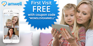 Amwell_coupon_code_free_first_visit