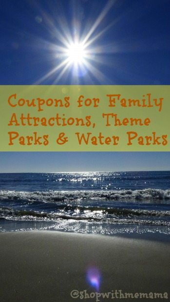 Coupons for Family Attractions, Theme Parks and Water Parks