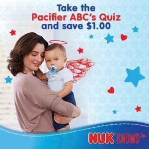 Download a coupon for $1 off NUK products at Walmart #NUKKnows #NUKPacifier