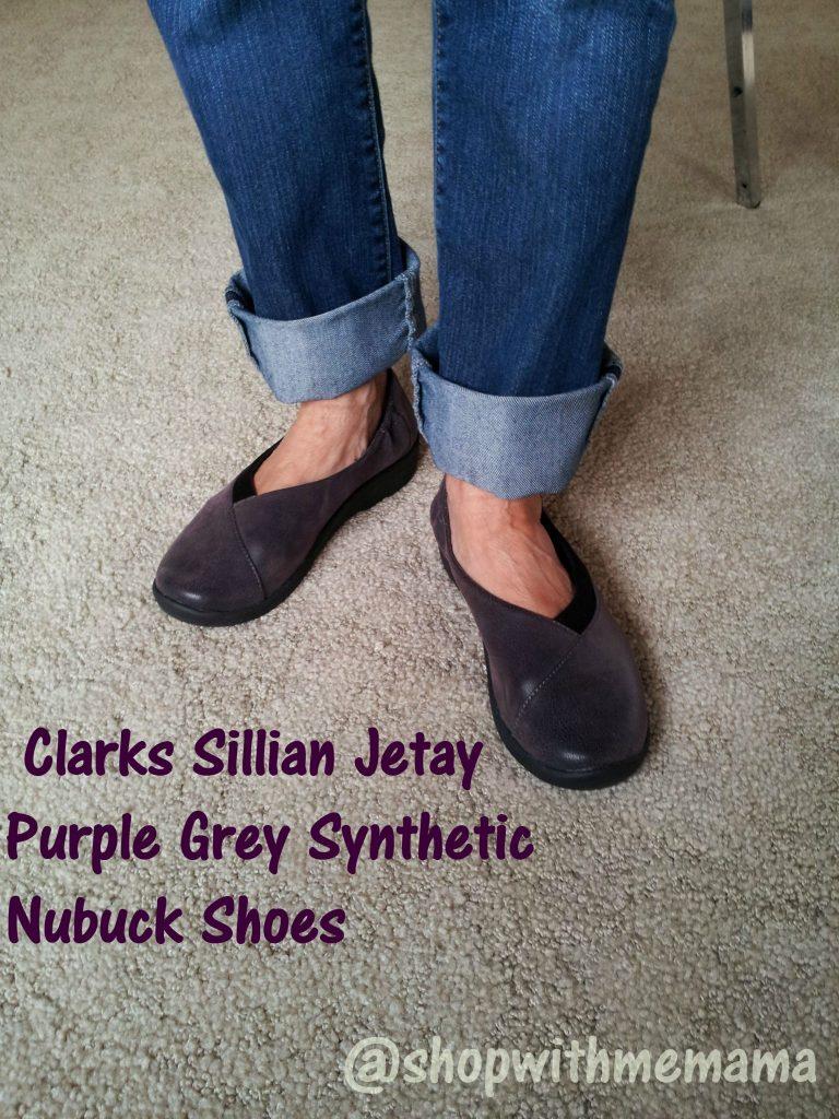 Sillian Jetay Purple Grey Synthetic Nubuck