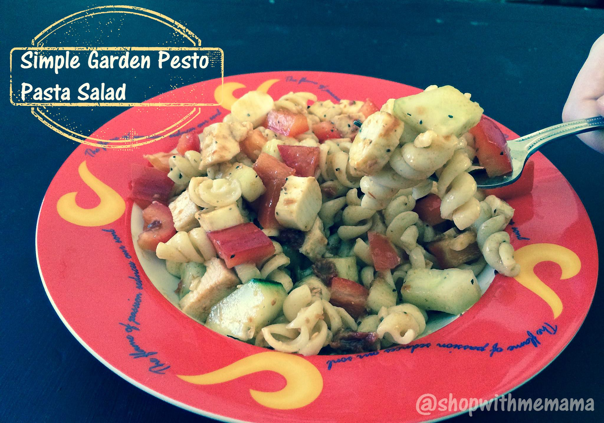 Simple Garden Pesto Pasta Salad
