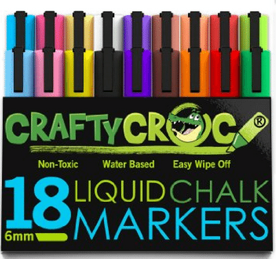 CraftyCroc Liquid Chalk Markers 18 Pack Giveaway