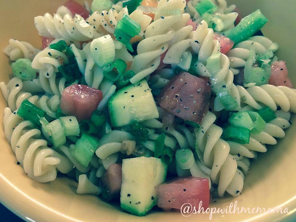 Easy Autumn Pasta Salad With Fresh Veggies
