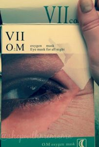 VIIcode O2M Oxygen Eye Mask Smoothes Fine Lines Overnight!