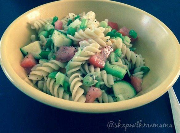 spiral pasta dish