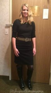 Comfortable Sweater Dress and Ruched Tall Boots From metrostyle! (Giveaway)