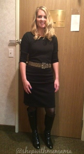 Comfortable Sweater Dress and Ruched Tall Boots From metrostyle