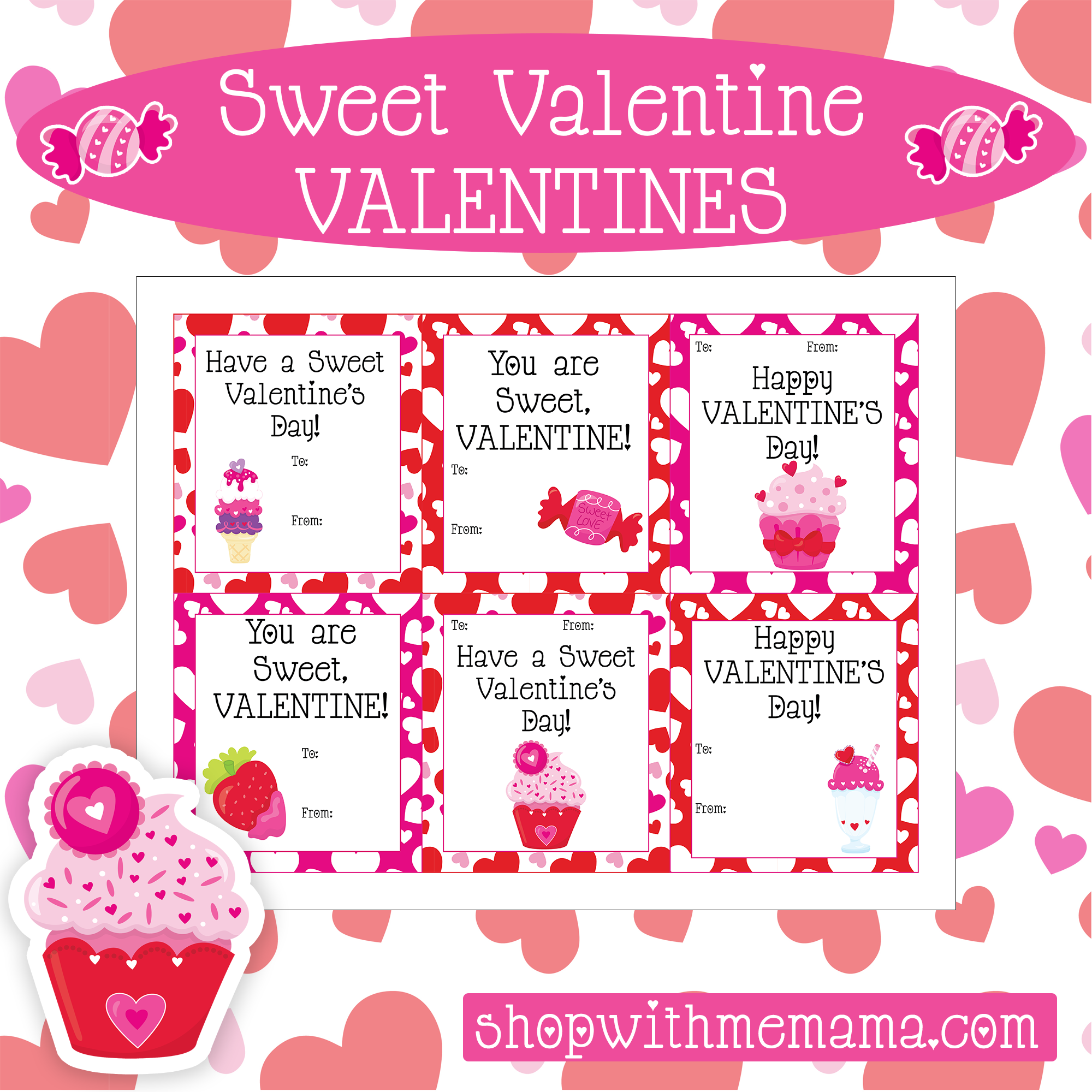 Free Sweet Valentines Day Card Printables