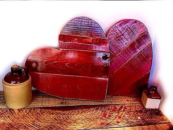 Rustic Wood Hearts