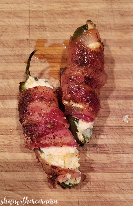 Bacon Wrapped Jalapeno Sweet And Spicy Poppers Appetizer