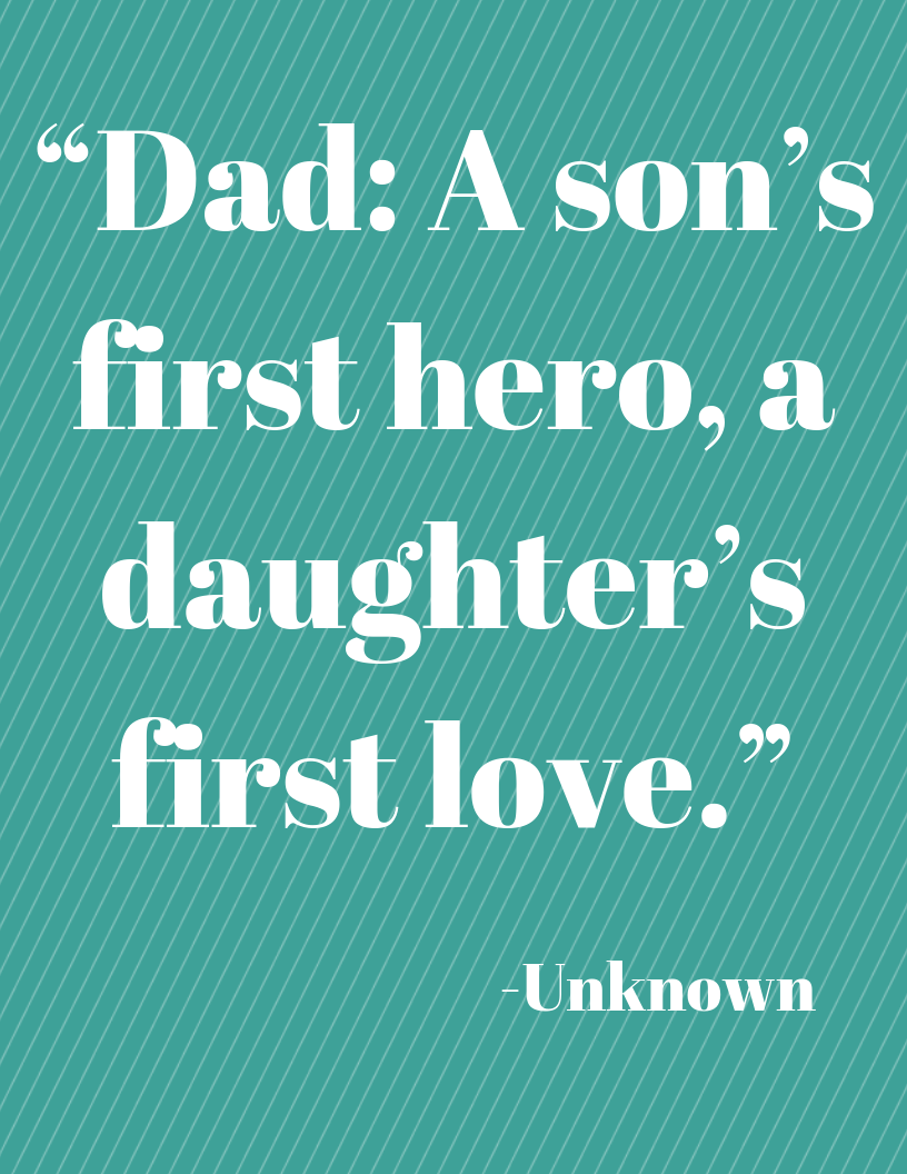 Father's Day Free Printable Quote