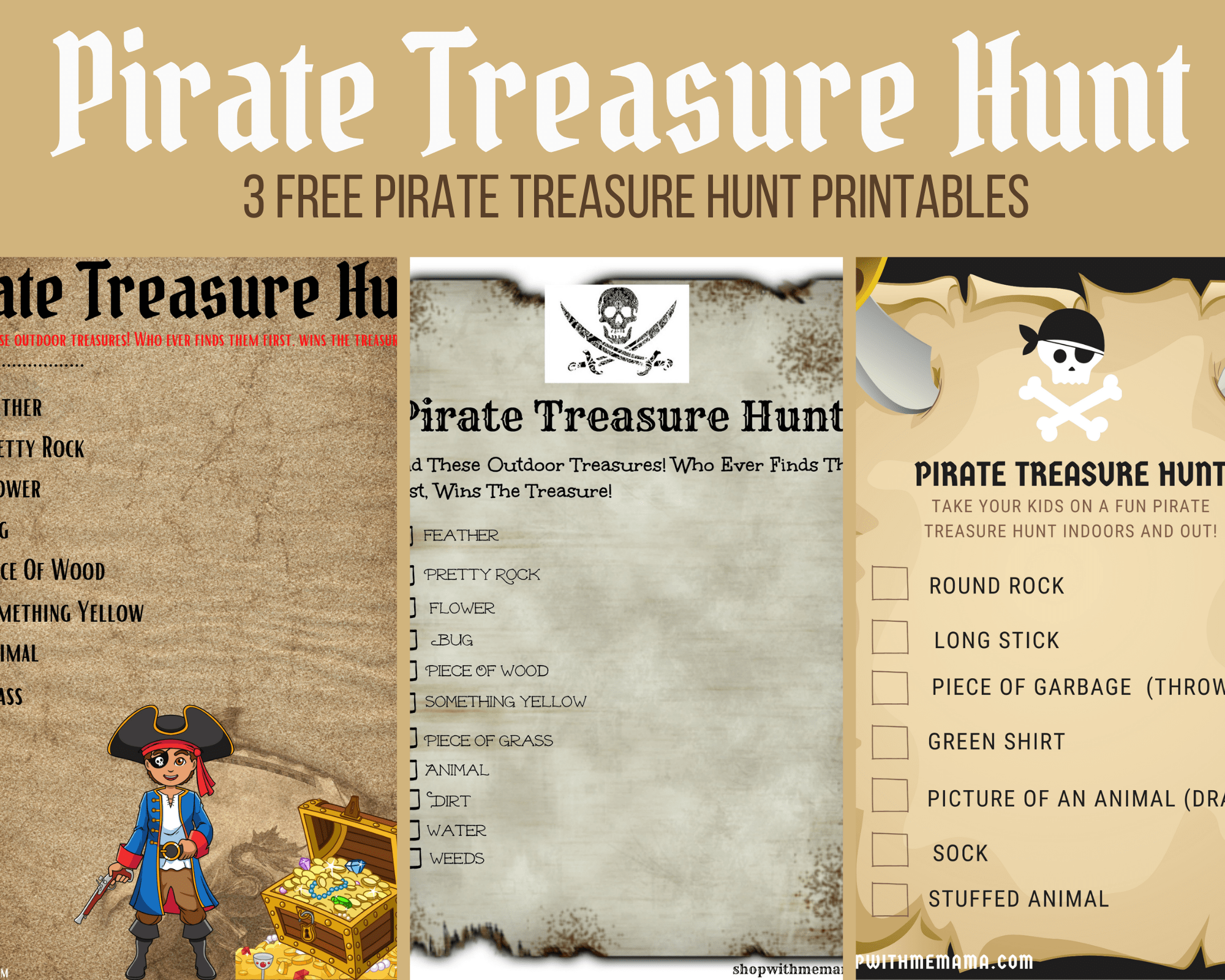 Pirate Treasure Hunt For Kids