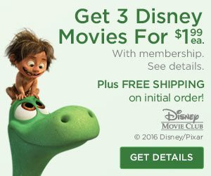 Get 3 Disney Movies For $1.99 Each