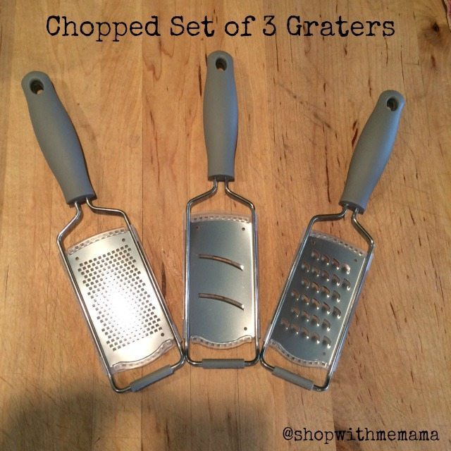 Chopped Set of 3 Graters