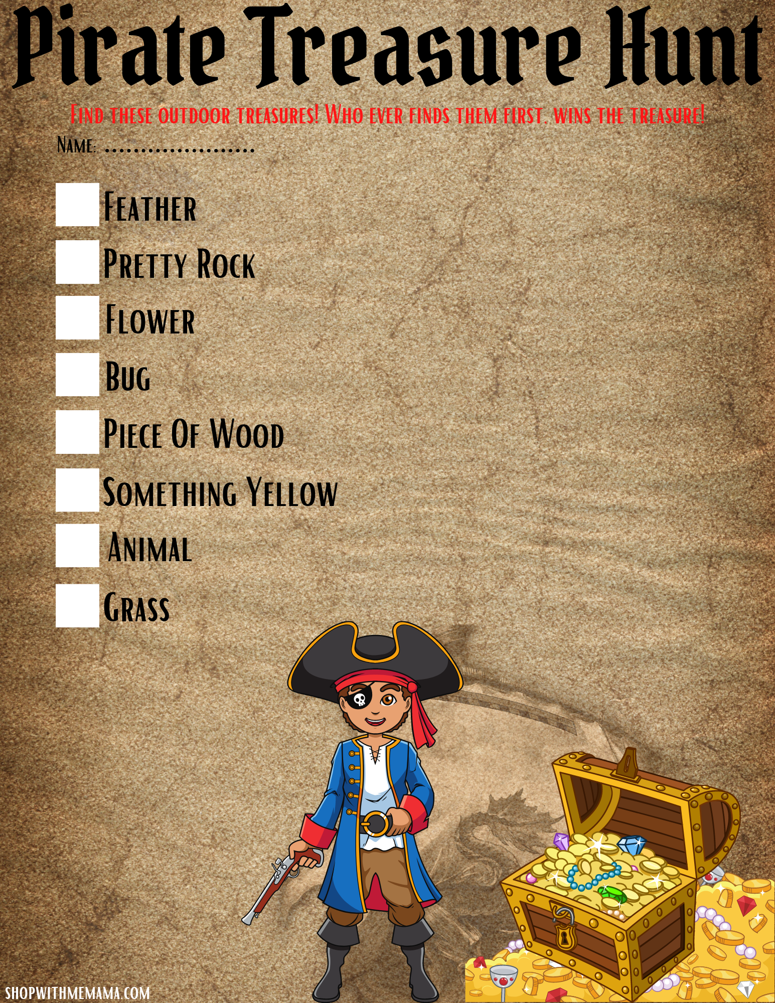 pirate birthday party games