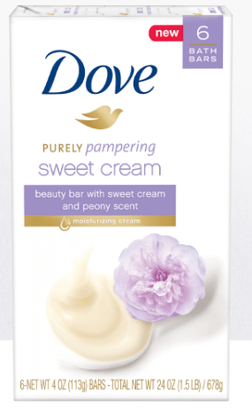 Dove Purely Pampering Sweet Cream with Peony Beauty Bar