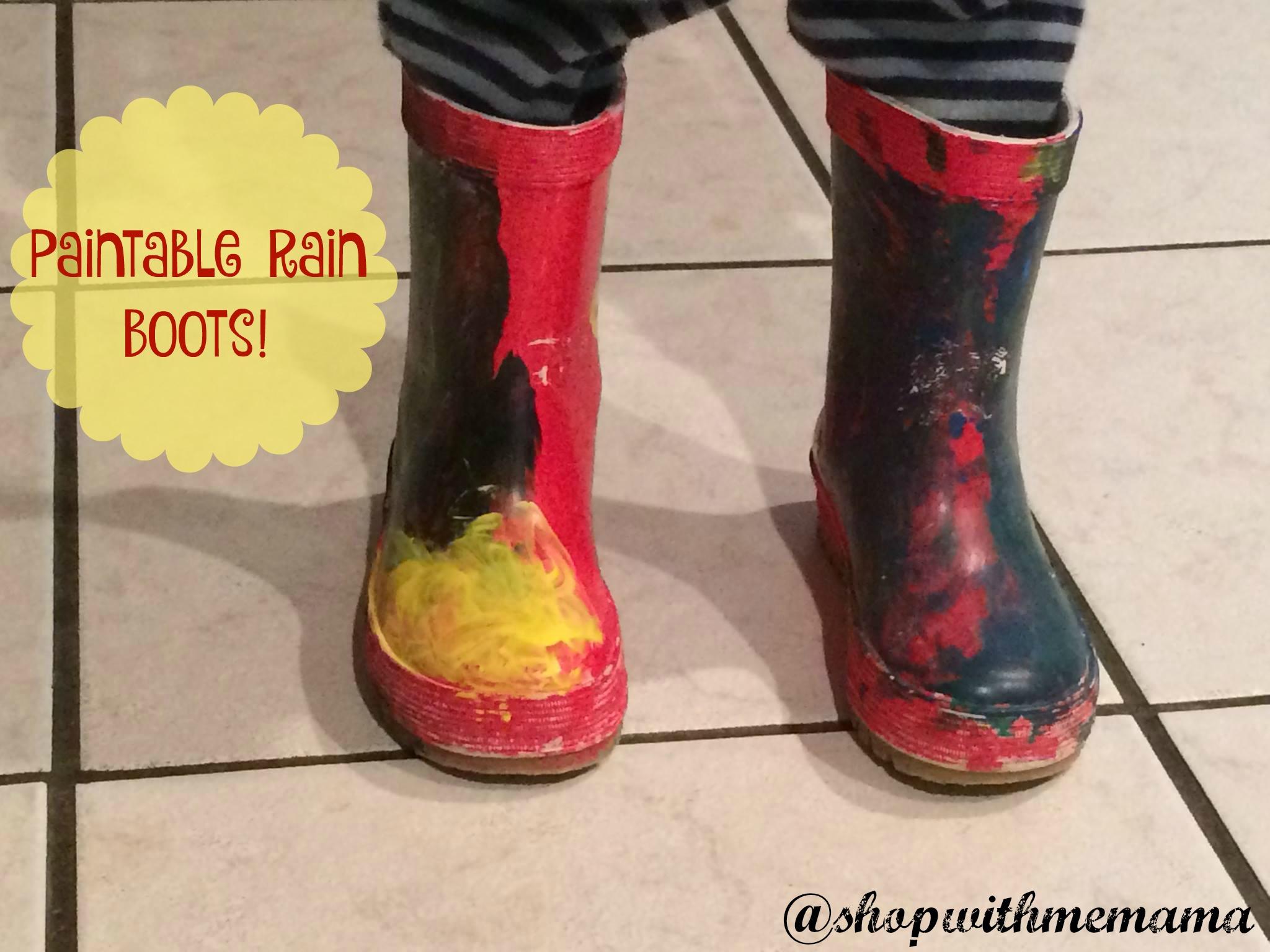 mY DESIGN paintable rain boots