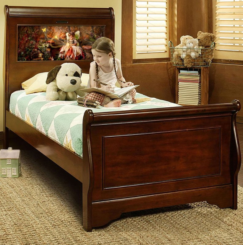 LightHeaded Beds with Built-In Night Light for kids