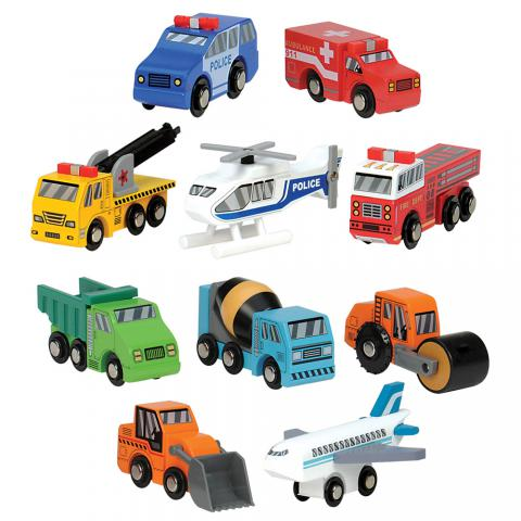 Wooden Vehicles Toys